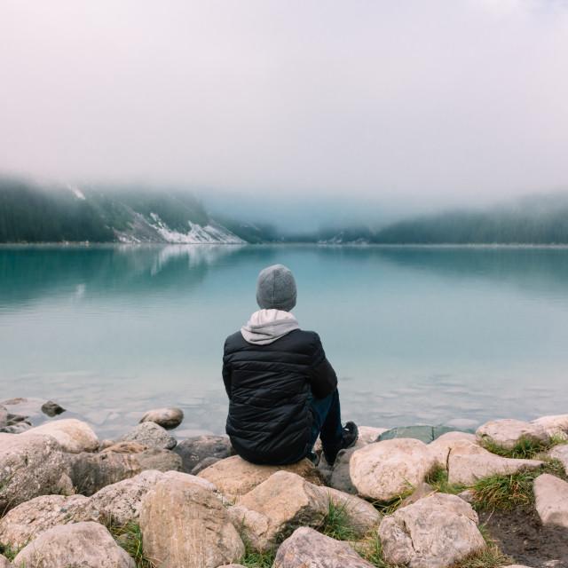 """Lake view"" stock image"