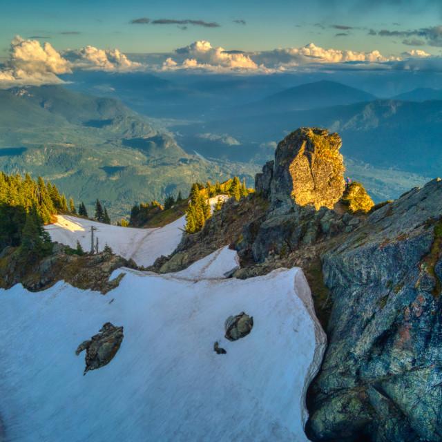 """Sauk Mountain Alpenglow"" stock image"