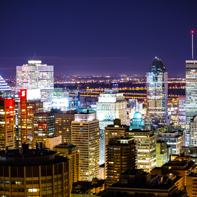 """Montreal at night"" stock image"