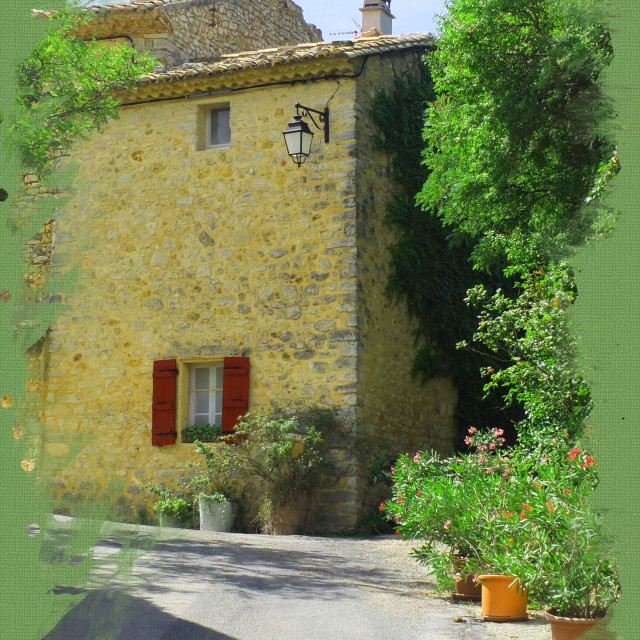 """""""Village of Suzette in the Vaucluse Provence"""" stock image"""