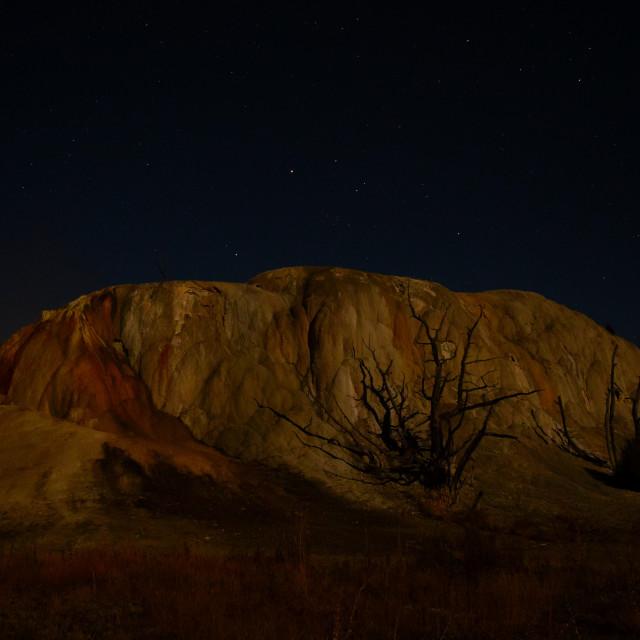 """""""Full Moon on Orange Mound"""" stock image"""