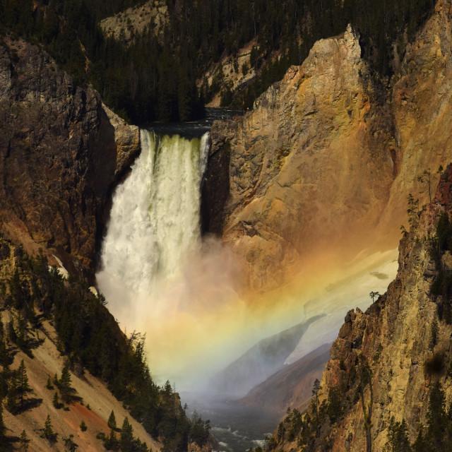 """Lower Falls Rainbow"" stock image"