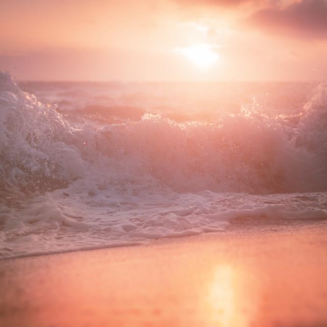 """""""Fife Coastal Sunset"""" stock image"""