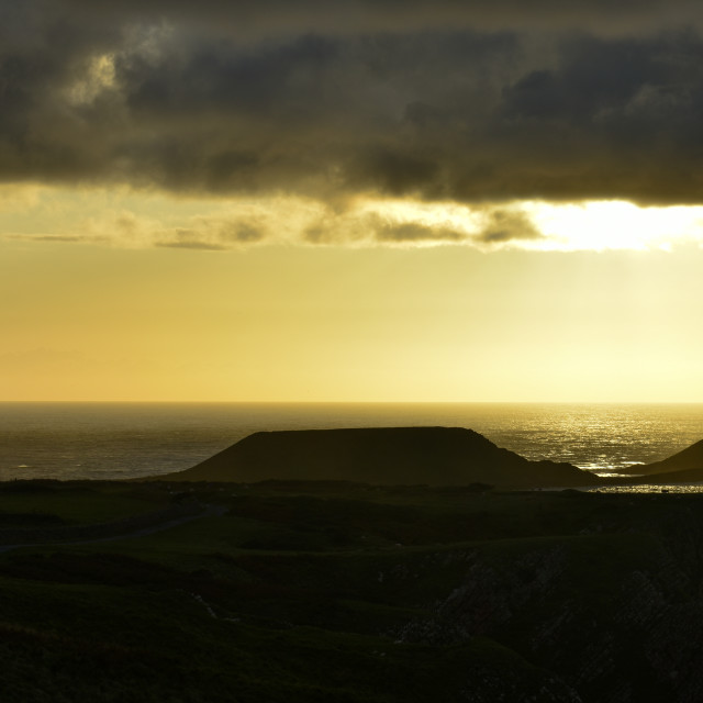 """""""Sunset over Worm's Head #1"""" stock image"""