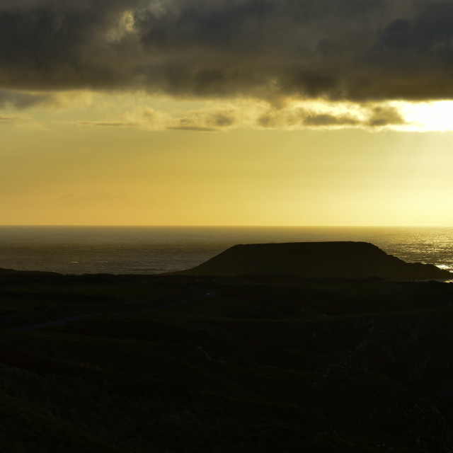 """""""Sunset over Worm's Head #2"""" stock image"""