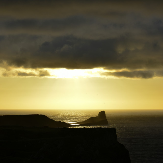 """""""Sunset over Worm's Head #3"""" stock image"""