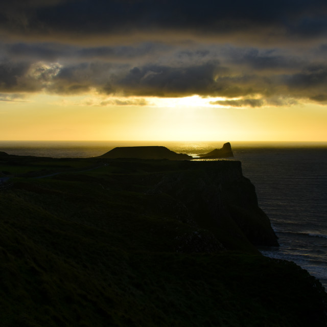 """""""Sunset over Worm's Head #4"""" stock image"""