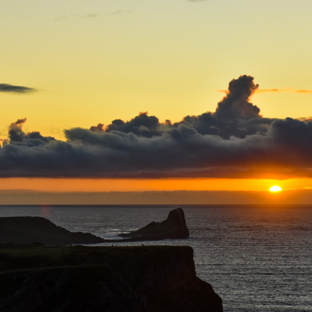 """""""Sunset over Worm's Head #5"""" stock image"""
