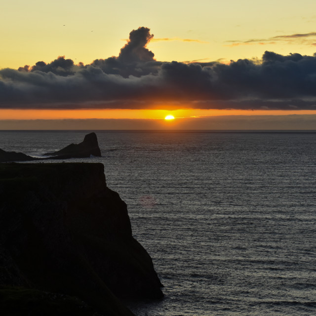 """""""Sunset over Worm's Head #6"""" stock image"""
