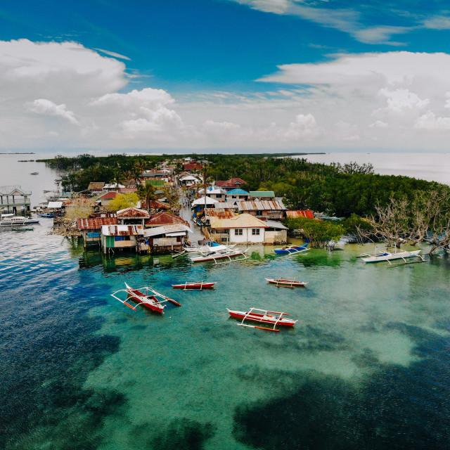 """Drohnenaufnahme von Batasan Island"" stock image"