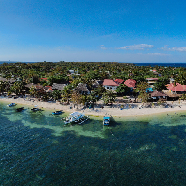 """Panorama Drone Shot Malapascua Island"" stock image"