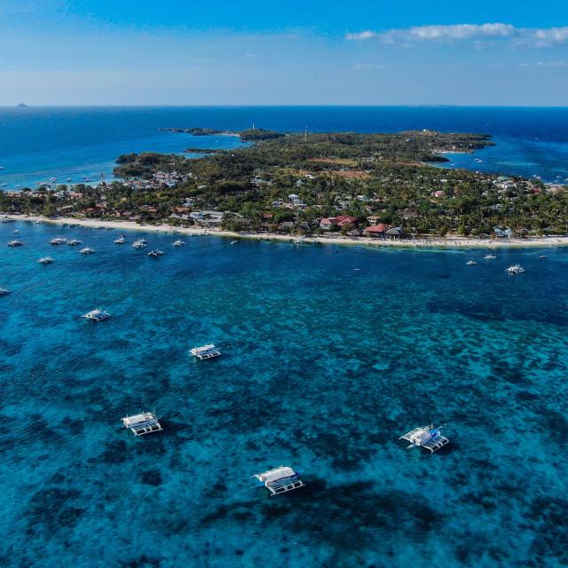 """Drone Shot Malapascua Island"" stock image"