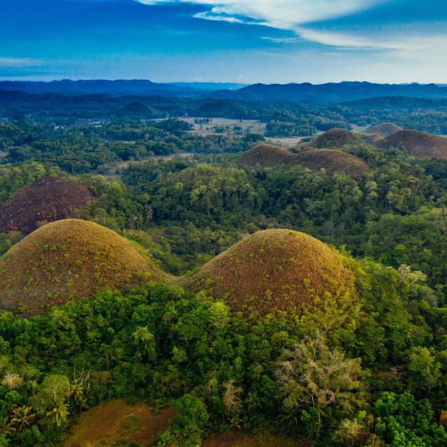 """Drone Shot Chocolate Hills Bohol"" stock image"