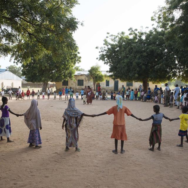 """Destroyed Village School, burned by Boko Haram"" stock image"