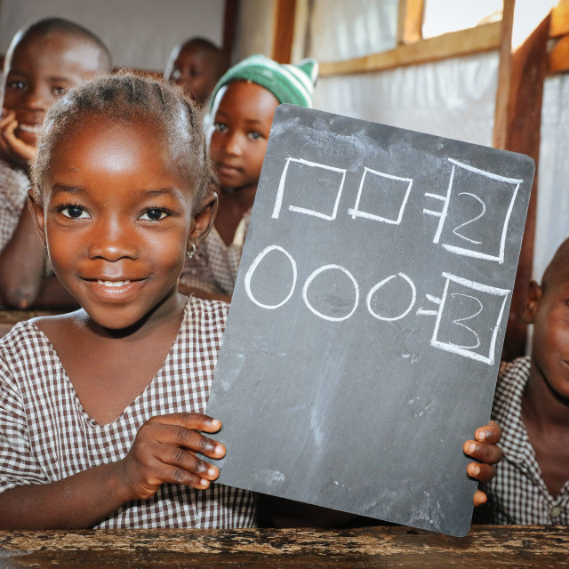 """""""Garagenschule - Boko Haram Flüchtlinge im IDP Camp"""" stock image"""