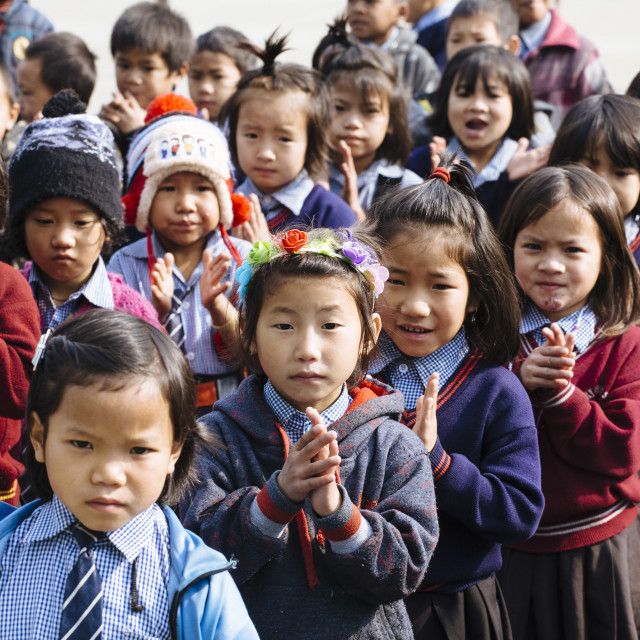 """Catholic School in Arunachal Pradesh India"" stock image"
