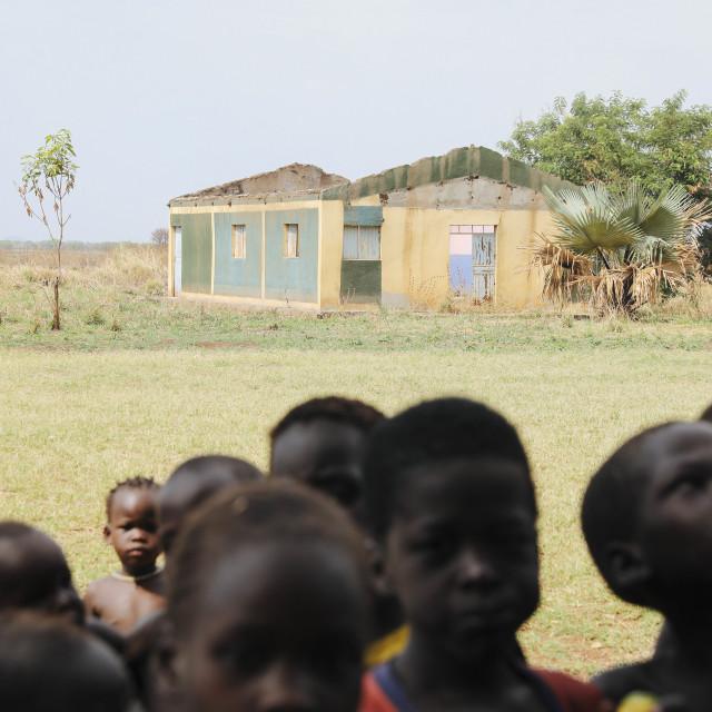 """Destroyed School in Gambella Ethiopia"" stock image"