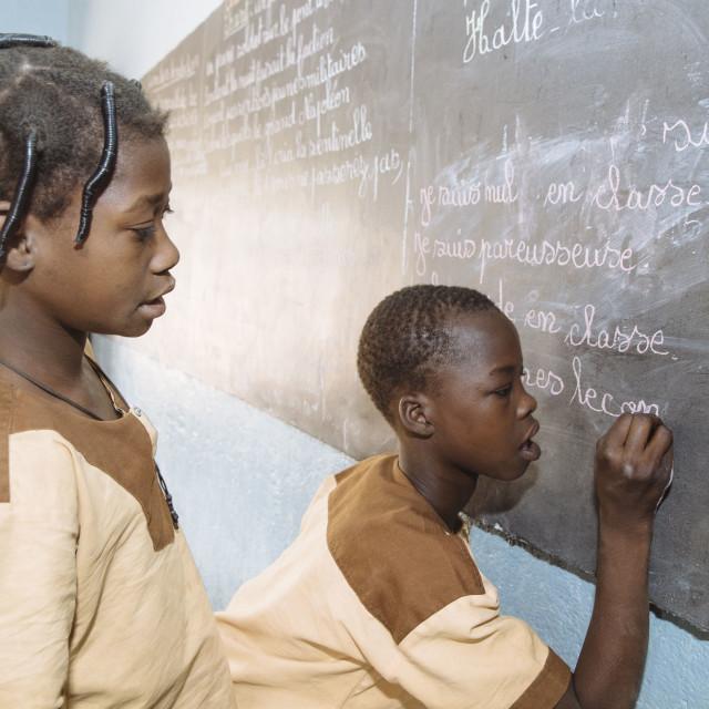 """Catholic School in Burkina Faso"" stock image"