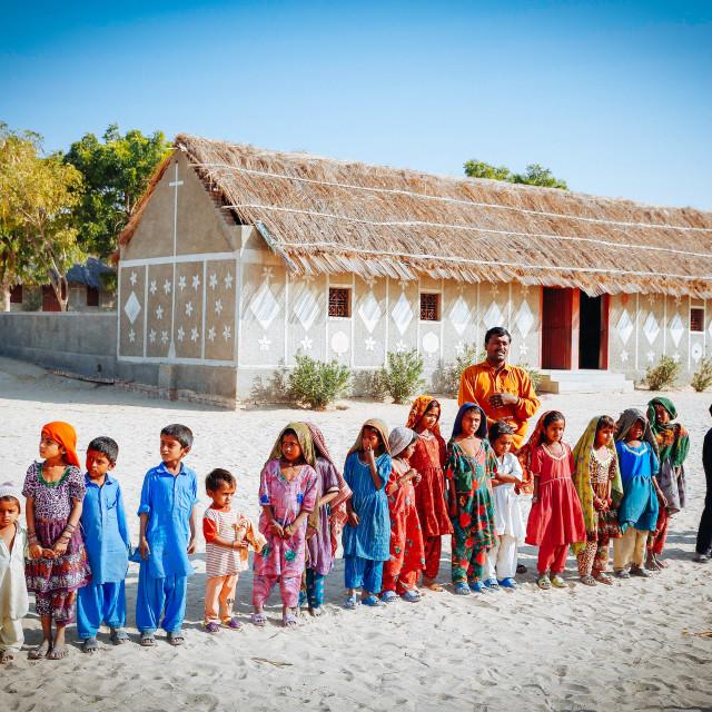 """Very basic Rural Village School"" stock image"
