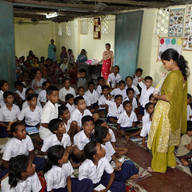 """""""Primary School in the slum"""" stock image"""