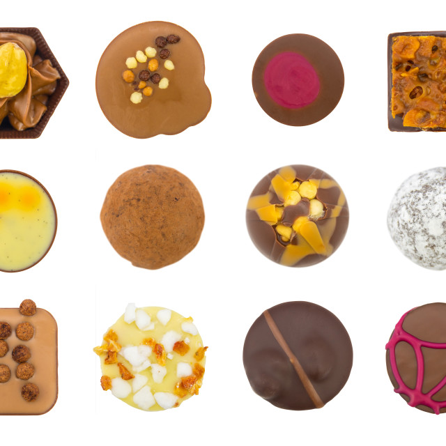 """Assortment Of Luxury Chocolates"" stock image"