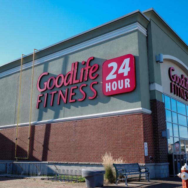 """GoodLife Fitness 24-hour location in Ottawa, Canada on November 5, 2020"" stock image"