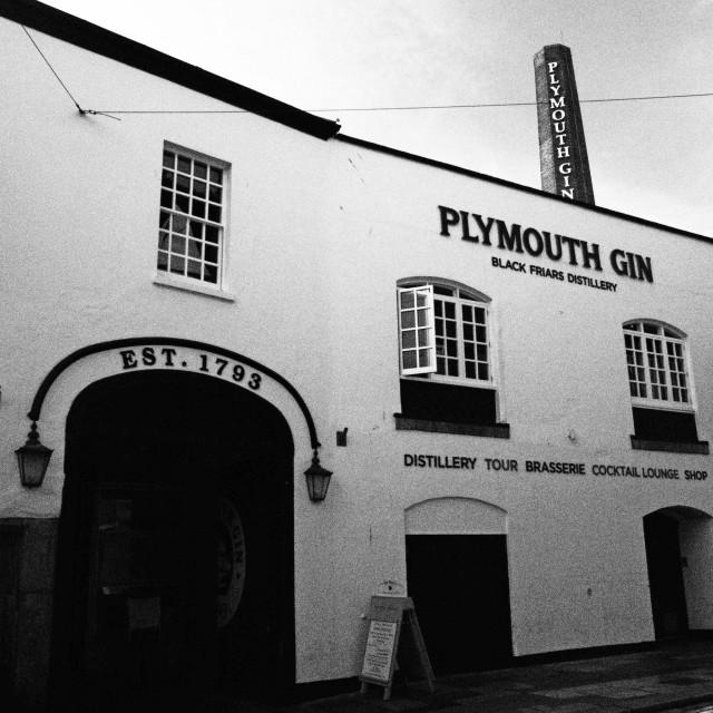 """Plymouth Gin Distillery Devon"" stock image"