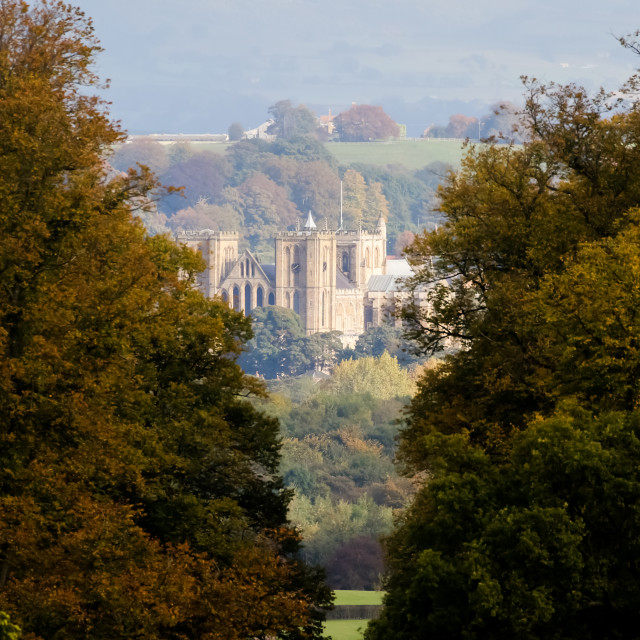 """""""Distant Ripon Cathedral"""" stock image"""