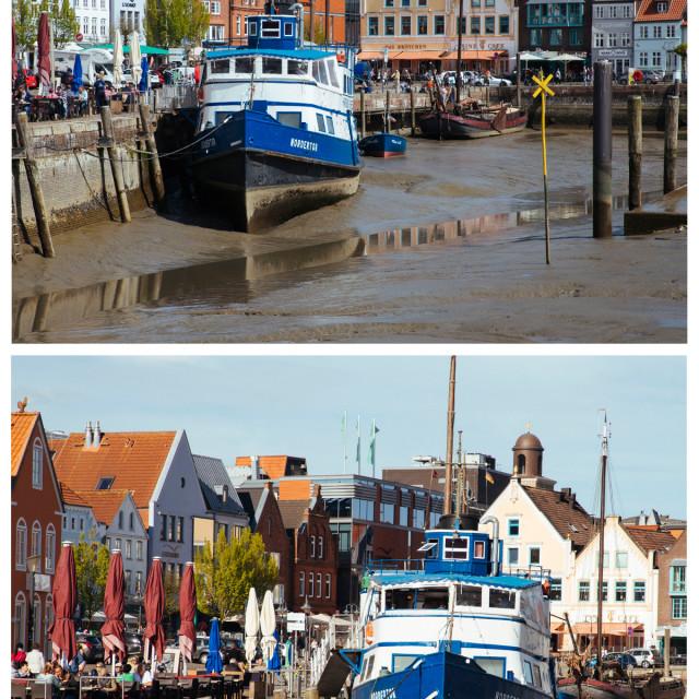 """""""Husumer Hafen"""" stock image"""