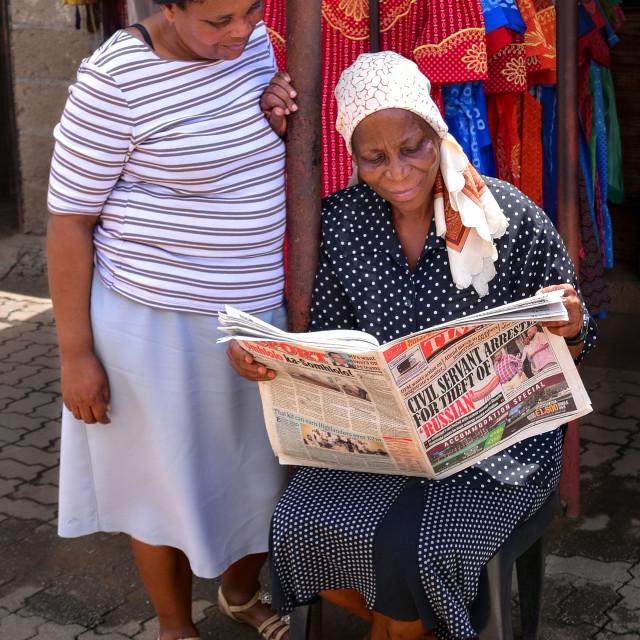 """""""Manzini Market"""" stock image"""
