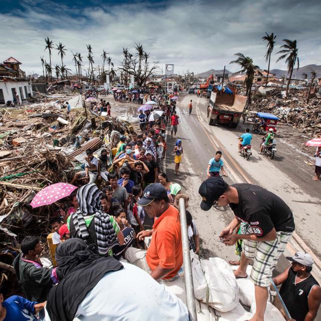 """Supertyphoon Haiyan Yolanda 2013 in Tacloban Leyte Philippines"" stock image"