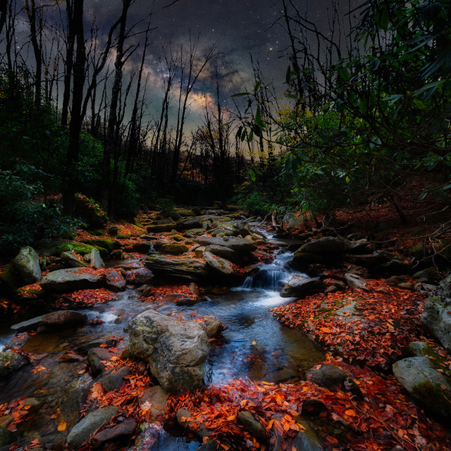 """Galaxy Creek"" stock image"
