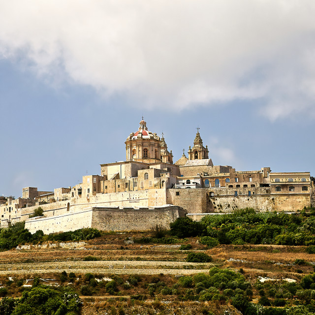 """Mdina Silent City of Malta"" stock image"