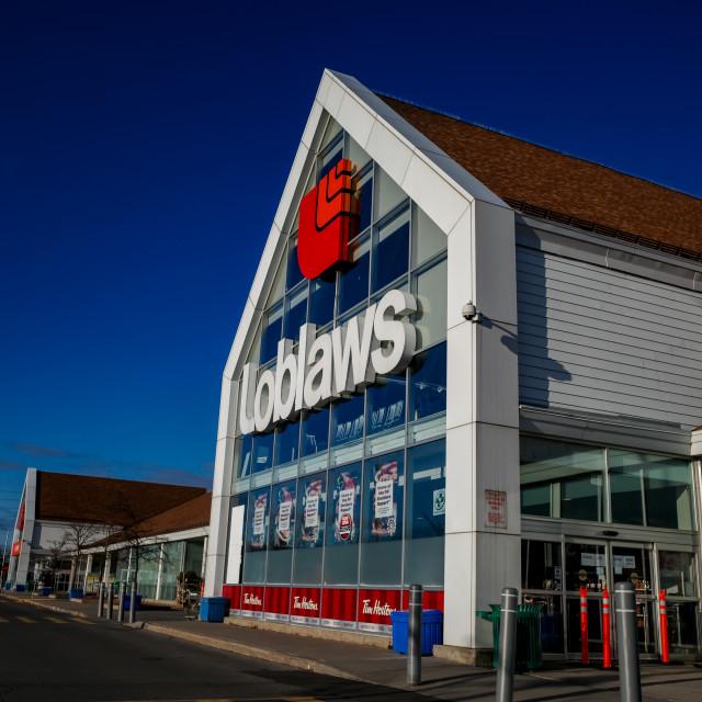 """Loblaws supermarket in Ottawa, Ontario on November 18, 2020."" stock image"