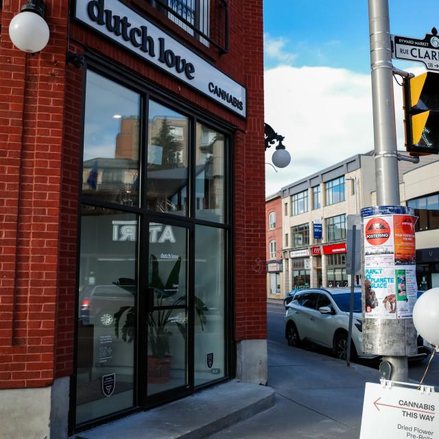 """""""Dutch Love Cannabis in the ByWard Market, Ottawa"""" stock image"""