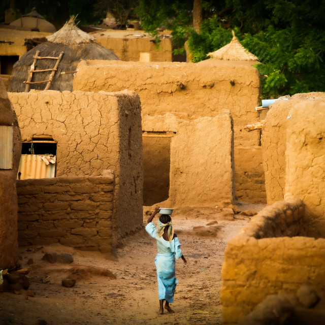 """""""Traditional Village in the Sahel Zone - Niger"""" stock image"""