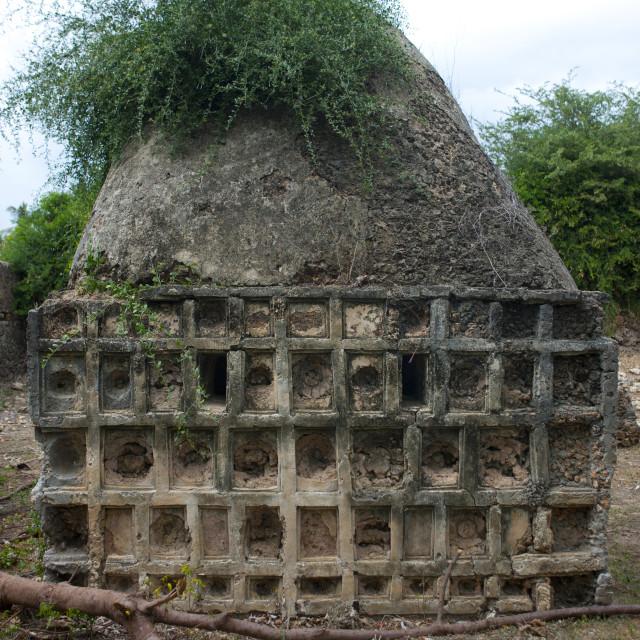 """Old muslim grave, Lamu County, Pate Island, Kenya"" stock image"