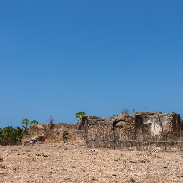 """Mosque ruins, Lamu County, Siyu, Kenya"" stock image"
