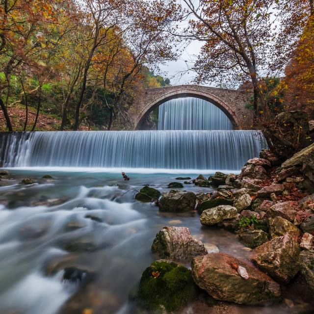 """Palaiokaria waterfalls"" stock image"