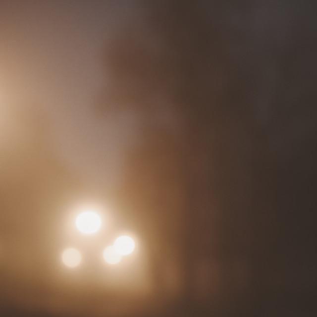 """Night Walk At Pispala VI (Lights)"" stock image"
