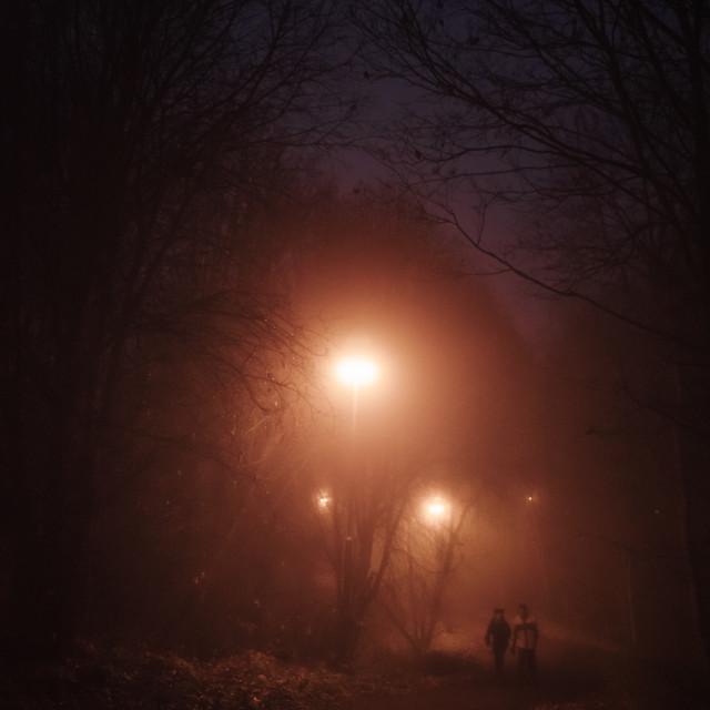 """Night Walk At Pispala V (Friends)"" stock image"