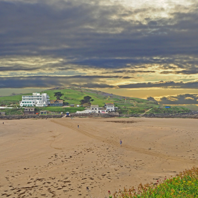 """""""Burgh Island from the mainland"""" stock image"""
