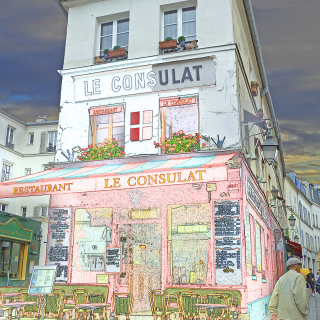 """""""Le Consulat restaurant artphoto Paris"""" stock image"""