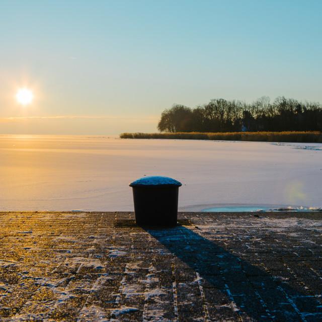 """""""Freezy sunset"""" stock image"""