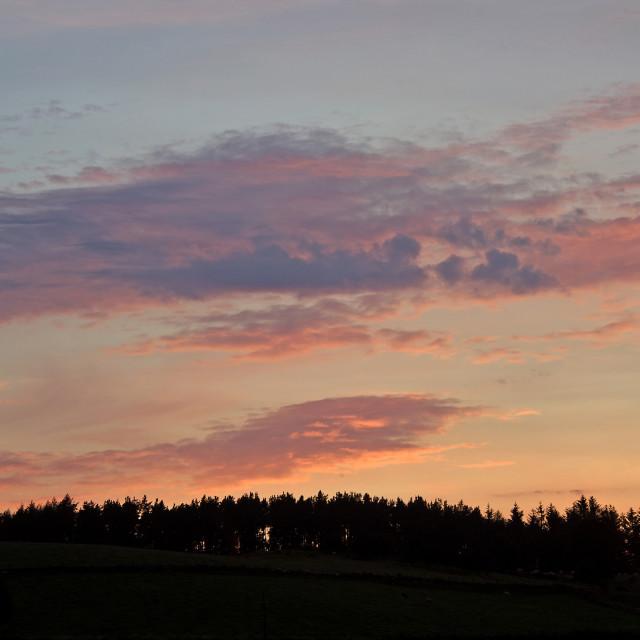 """Pastel Deeside Sunset"" stock image"
