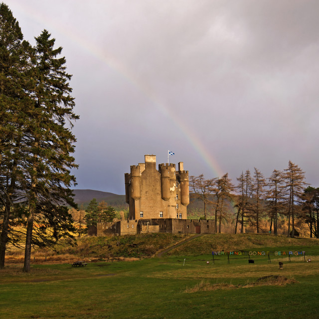 """Braemar Castle"" stock image"