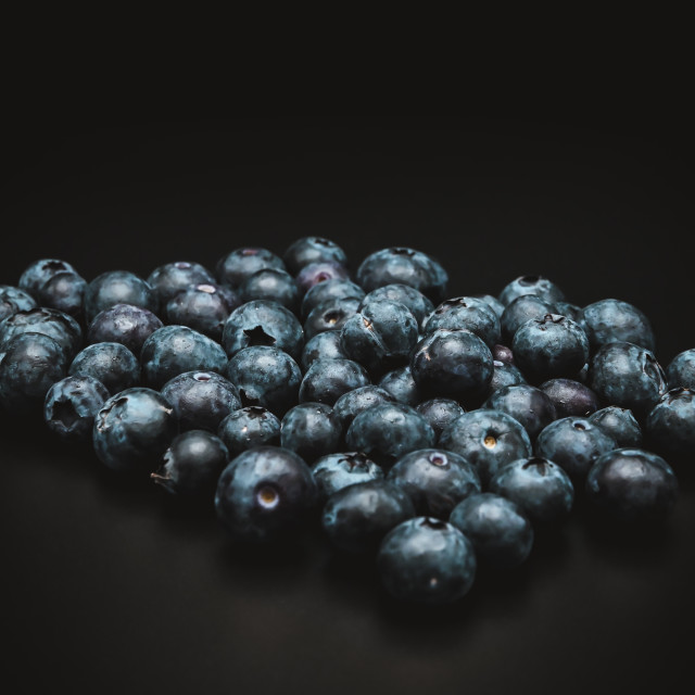 """""""Blueberries in a studio"""" stock image"""