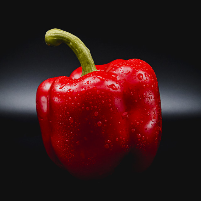 """""""A fresh red bell pepper"""" stock image"""