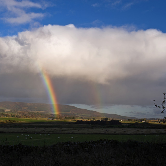 """Deeside Rainbow"" stock image"