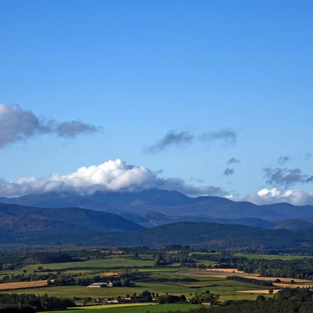 """Lochnagar Queens View"" stock image"